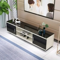 Tempered Glass Tv Cabinet In Simple Style