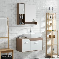 Modern Style Pvc Wall-Mounted Bathroom Cabinet Combination