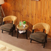 Rattan Chair And Table Set Style 1