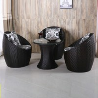 Nest Style Rattan Chairs And Tea Table Set Style 2