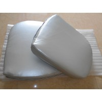 Replacement Cushions for Pod Egg Chair in Silver color and PU leather