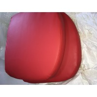 Replacement Cushions for Pod Egg Chair in Red color and PU leather