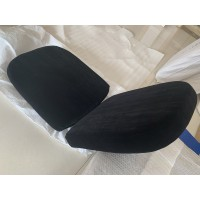 Replacement Cushions for Pod Egg Chair in Black color and Real Leather