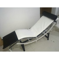 Mix colored White and Black Cushion for Le Corbusier LC4 Chaise Lounge Chair in Italian Leather