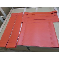 Repair Replacement Straps And Cushion For Wassily Kandinsky Chair In Orange Italian Leather And Bonded Leather
