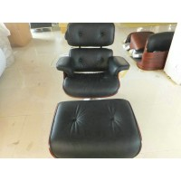 Cushions for Eames lounge chair removable made in Real Leather