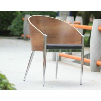 King Costes Coffee Chair In Real Leather With Electroplating Legs