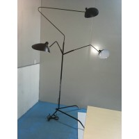 Serge Mouille Style Three-Arm Floor Lamp