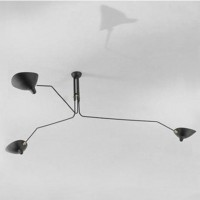 Serge Mouille Style Three Arm Ceiling Lamp Reproduction Lightings of short version