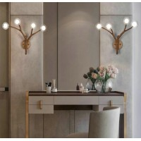 Tree Wooden Branch Wall Lamp