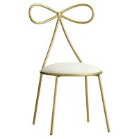 Cute Buttlefly Back Simple Casual Chair Metal Stool