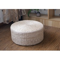20Cm Thickness Straw Plaited Floor Cushion Or Stool