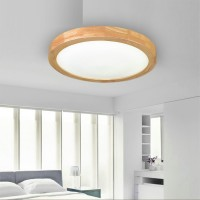 Wooden Ceiling Lamp For Bathroom Or Kitchen