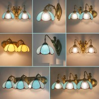 Tiffany Style Mirror Front Lamp For Bathroom