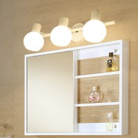 Glass Ball Mirror Front Led Bathroom Lamp