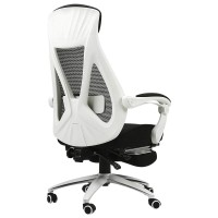 Black And White Seat Swivel Chair Office Chair With Lying Function