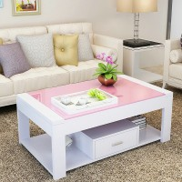 Simple And Modern Glass Coffee Table Rectangular
