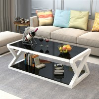 Coffee Table X Style Creative Simple Square Coffee Table