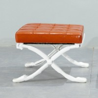 Barcelona style Ottoman in Full Aniline Leather