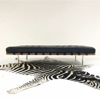Barcelona style Bench in Full Grain Leather