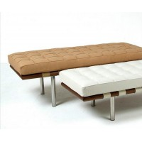 Barcelona style Bench in Full Nappa Leather