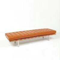 Barcelona style Bench in Full Aniline Leather