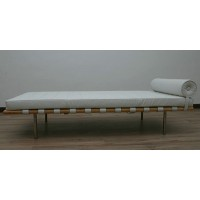 White Barcelona Daybed in wooden frame