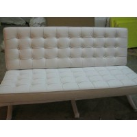 Barcelona Loveseat Cushions And Straps In Top Grain Leather