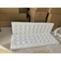 Barcelona Loveseat Cushions And Straps In Full Grain Leather