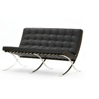 Barcelona Loveseat Cushions and Straps in Full Nappa Leather