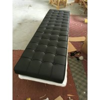 Black Barcelona Long Bench Cushion Three Seaters Bench Cushion 198cm