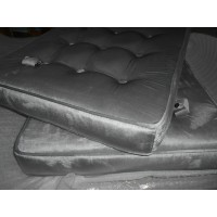 Silver Grey Fabric Barcelona Chair Cushions