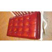 Gloss Maroon Red Barcelona Chair Cushions