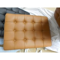Dark Tan Barcelona Chair Cushions in standard grade
