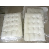 White Barcelona Chair Cushions in higher grade