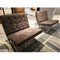 Barcelona Chair Cushions and Straps in Nubuck Leather