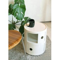 Kartell Style Componibili Round Storage Towers,Two Doors