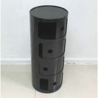 Kartell Style Componibili Round Storage Towers,Four Doors