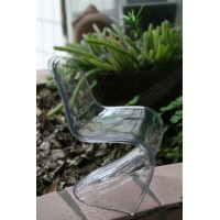 Mini Panton Chair in clear nude color