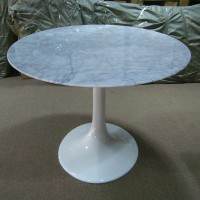 Tulip Marble Table Of 90Cm In Diameter