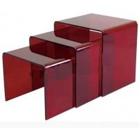 Crystal Acrylic 3 In 1 Side Table Tea Table