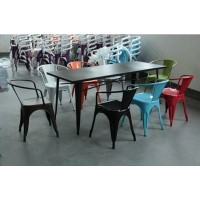 Tolix Iron Chair Style 2 With Round Backrest Buy 4Pcs Get 25% Percent