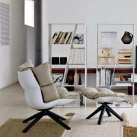 Muscle Fiberglass Recliner Chair Rice Husk Chair