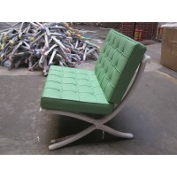 Green Barcelona Chair with Ottoman