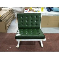 Barcelona chair in Jade Green color