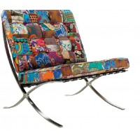 Barcelona Style Chair in Print Fabric