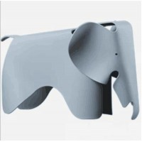 Eames Elephant Lounge Chair in Grey Blue