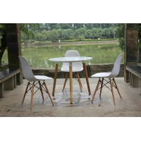 Eames Dsw Daw Simple Style Wooden Table Of 80Cm Diameter