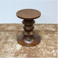Eames Style Walnut Stools in Light Walnut of 3pcs as a set