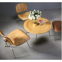 Eames Style LCM plywood dining Chair in Ash